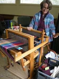 Susan at the loom